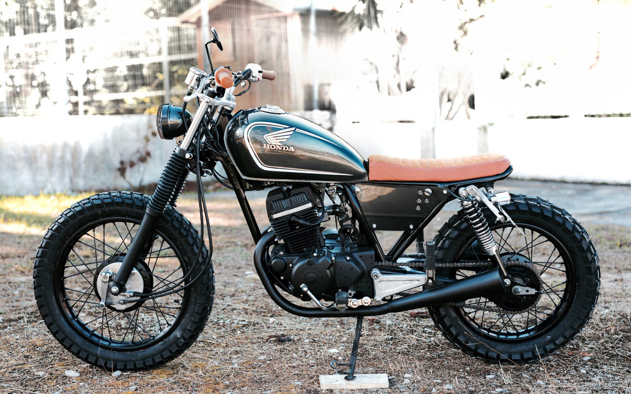 Honda Cm Scrambler on Custom Honda Xr 125